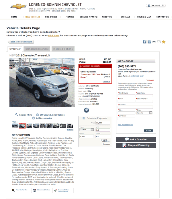 2012 Chevrolet Traverse Real Dealer Prices - Free ...