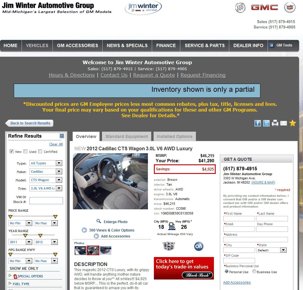 Jim Winter Auto Group Inc 401k -