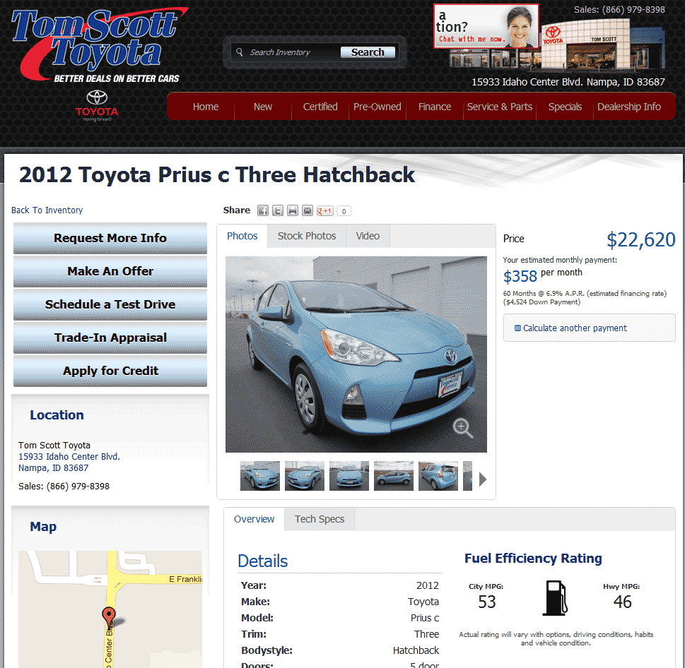 2012 Toyota Prius C Real Dealer Prices Free Costhelper Com
