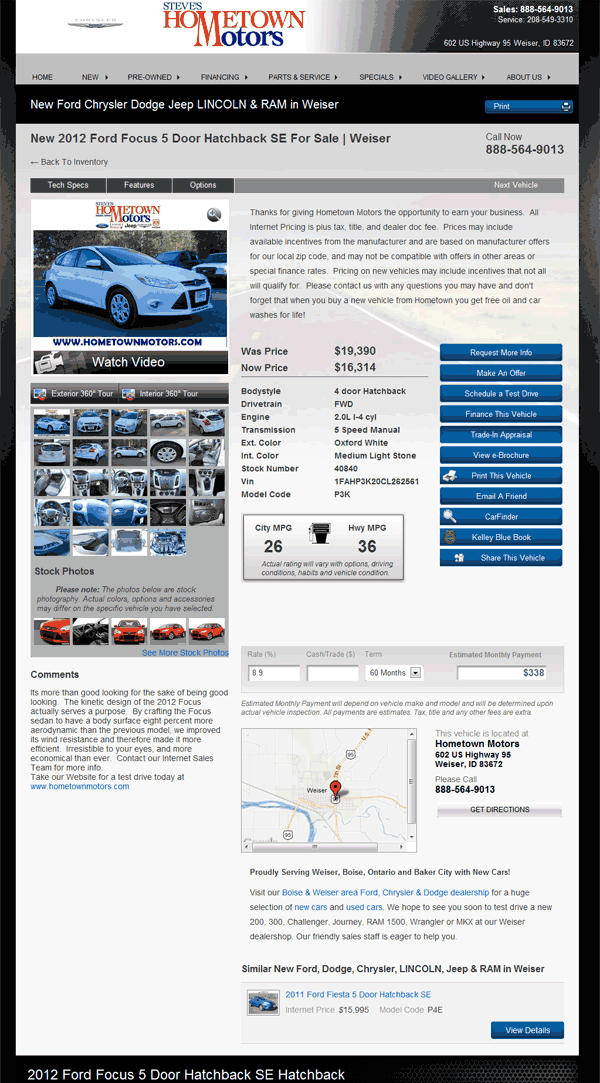 2012 Ford Focus Real Dealer Prices Free Costhelper Com