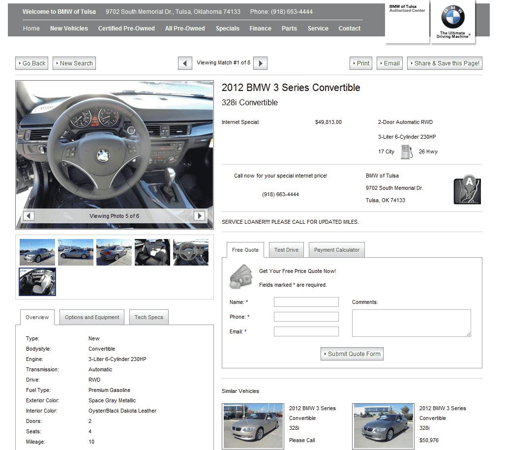 Toyota Dealer Sioux Falls: 2012 BMW 328i Real Dealer Prices