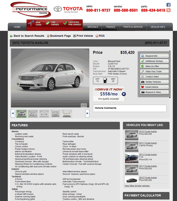 Performance Toyota Fairfield, OH View Dealer Ad