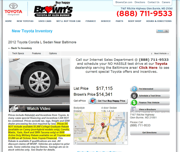Brownu0027s Toyota Glen Burnie, MD View Dealer Ad