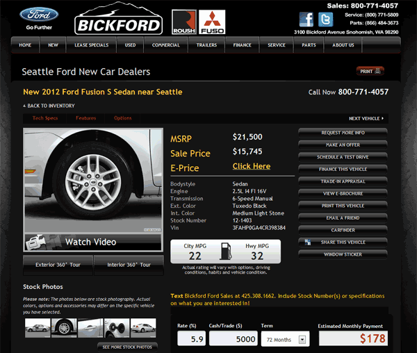Holiday Ford Whitesboro Tx >> 2012 Ford Fusion Real Dealer Prices - Free - CostHelper.com