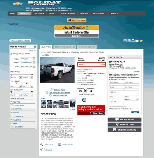 Holiday Chevrolet Whitesboro Texas >> 2012 Chevrolet Silverado 1500 Real Dealer Prices Free