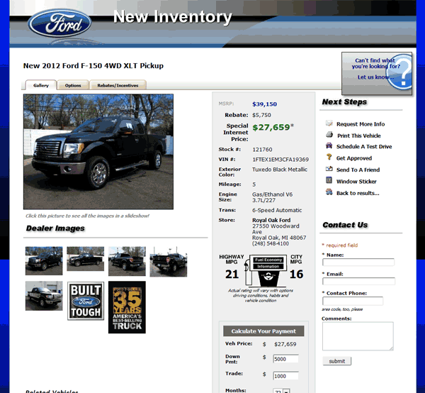 2012 Ford F 150 Real Dealer Prices Free Costhelper Com