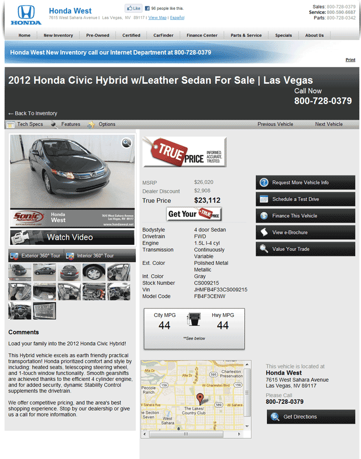 2012 Honda Civic Sedan Real Dealer Prices - Free ...