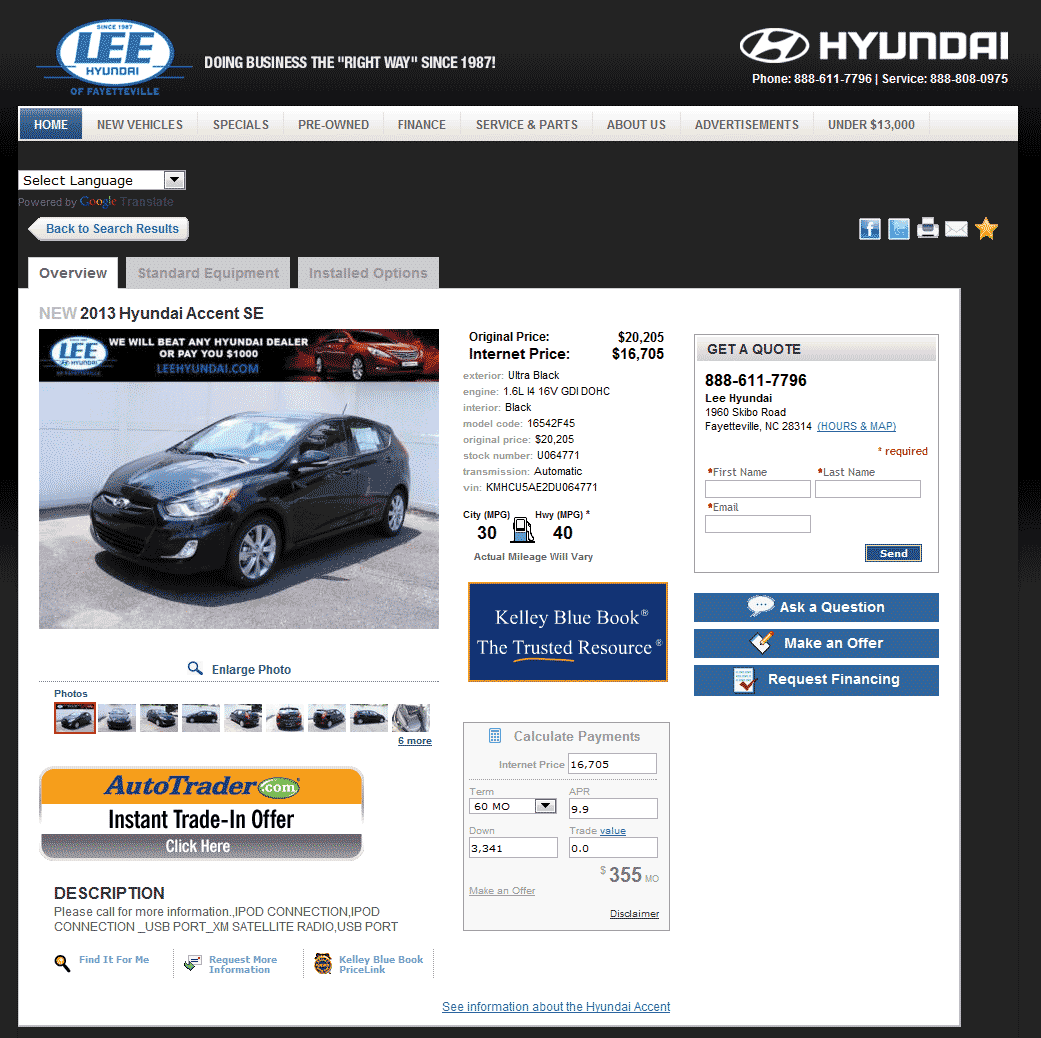 2013 Hyundai Accent Real Dealer Prices Free Costhelper Com