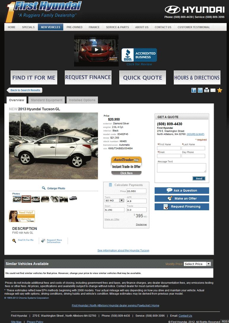 First Hyundai North Attleboro, MA View Dealer Ad