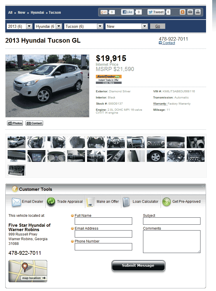 Five Star Hyundai Warner Robins, GA View Dealer Ad