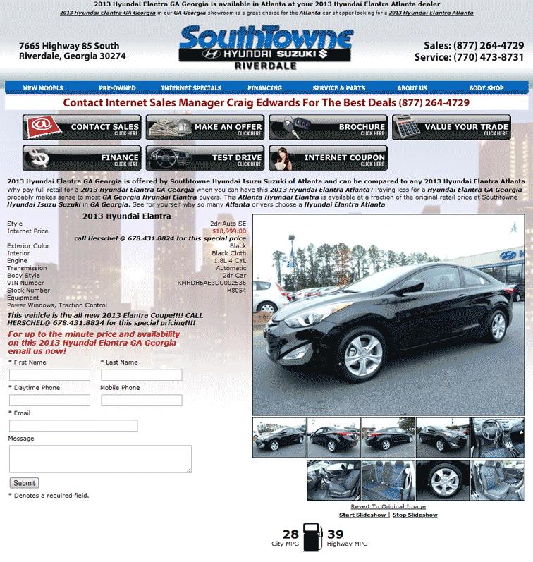 Southtowne Hyundai Riverdale, GA View Dealer Ad