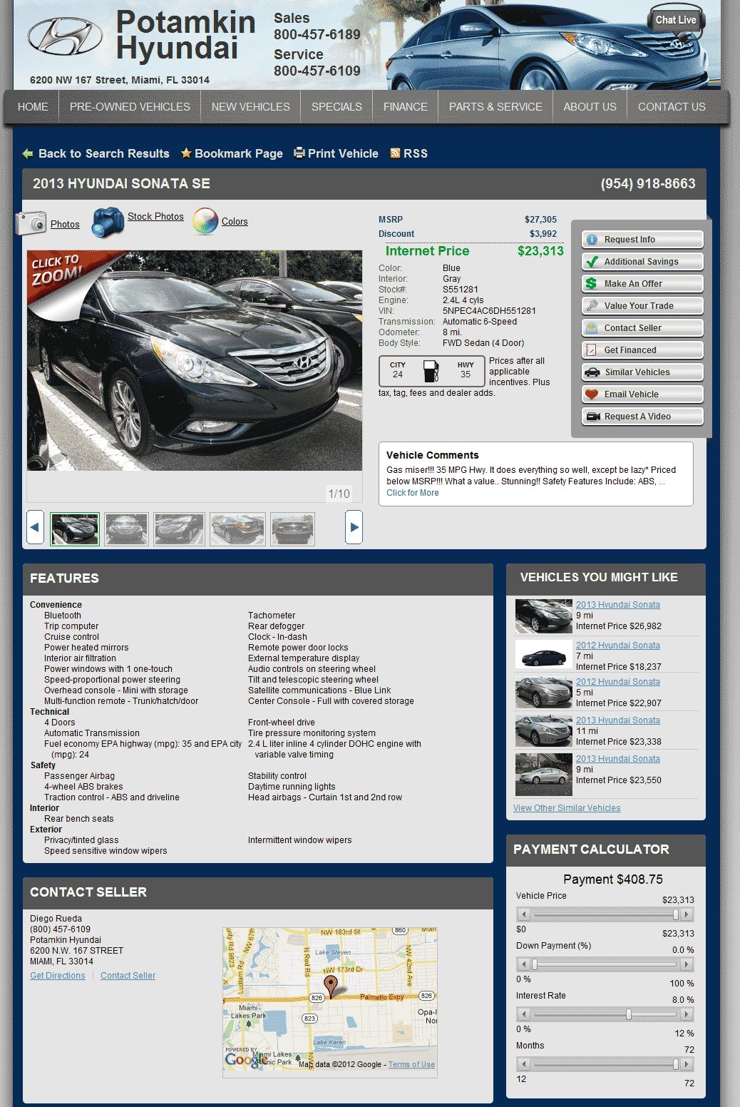 Lee Hyundai Of Goldsboro >> 2013 Hyundai Sonata Real Dealer Prices - Free - CostHelper.com
