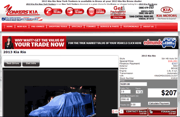 2013 Kia Rio Real Dealer Prices Free Costhelper Com