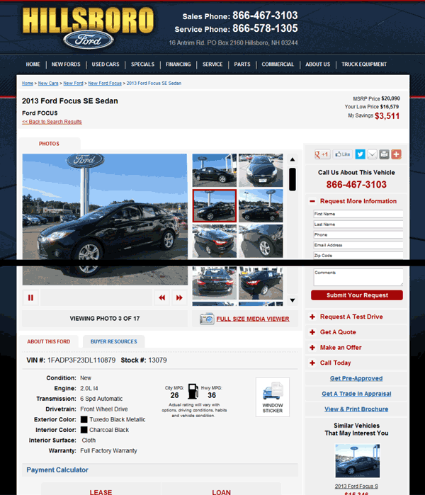2013 Ford Focus Real Dealer Prices