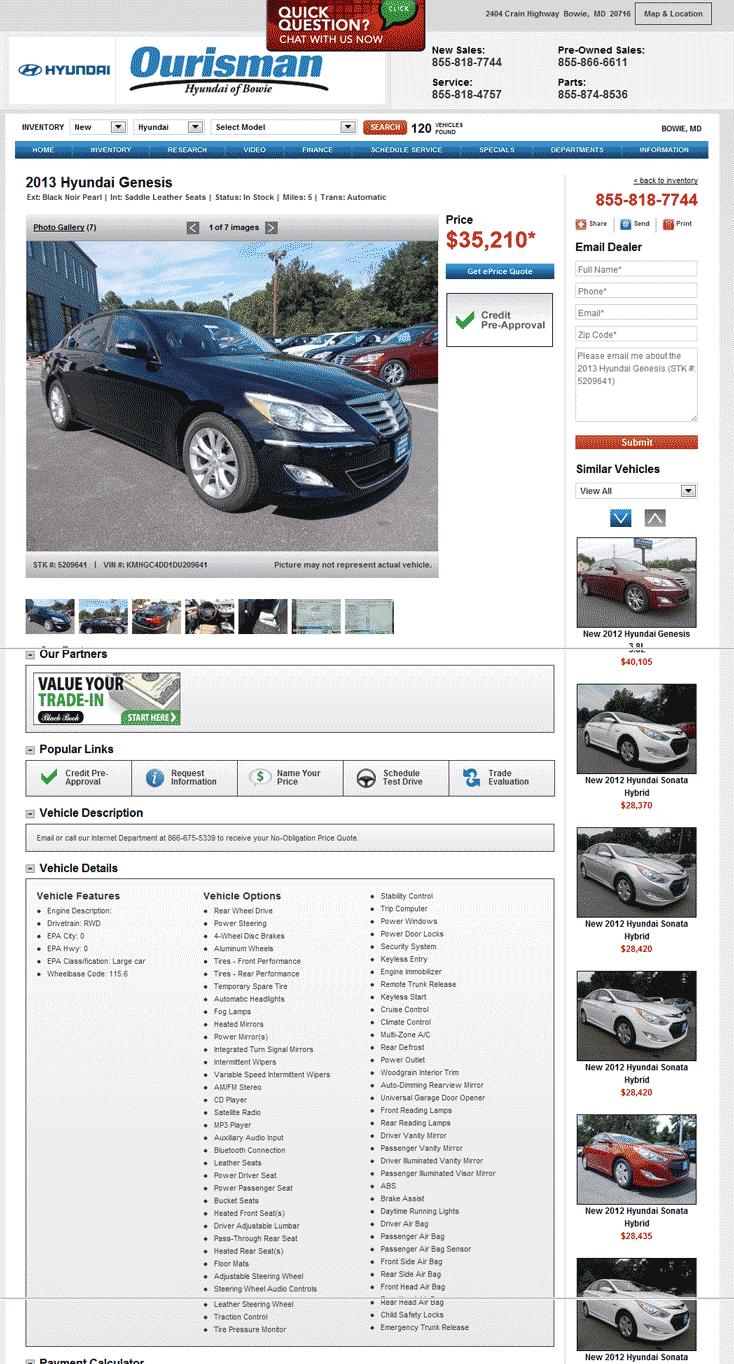 Ourisman Hyundai Bowie, MD View Dealer Ad