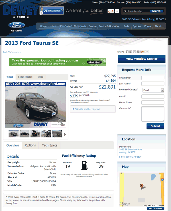 2013 Ford Taurus Real Dealer Prices Free Costhelper Com
