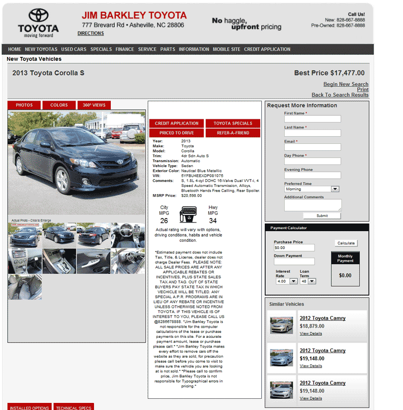 Jim Barkley Toyota Asheville, NC View Dealer Ad