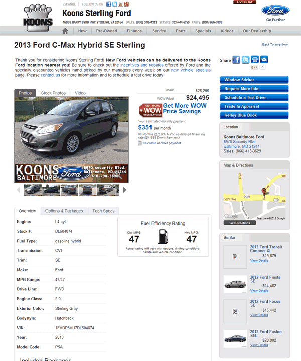2013 Ford C Max Hybrid Real Dealer Prices Free