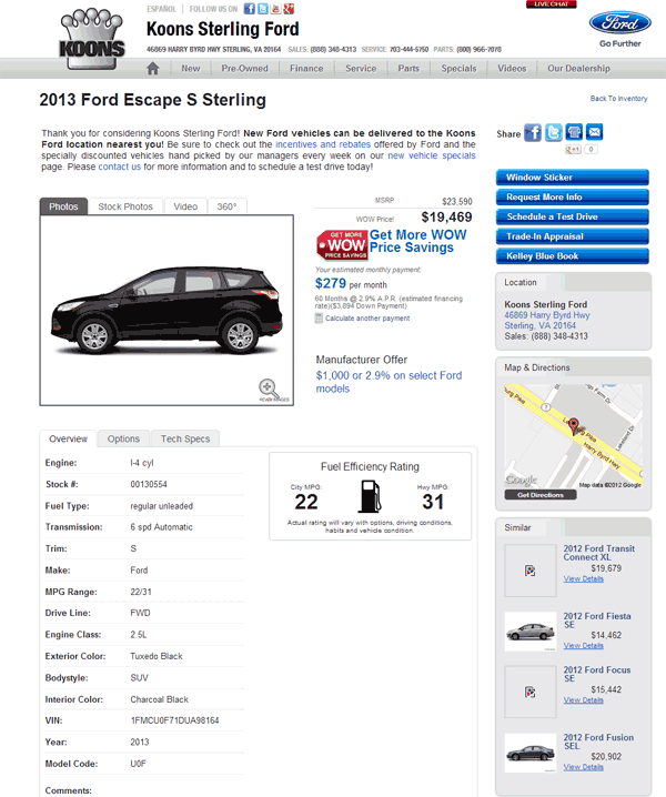 2013 Ford Escape Hybrid: 2013 Ford Escape Real Dealer Prices
