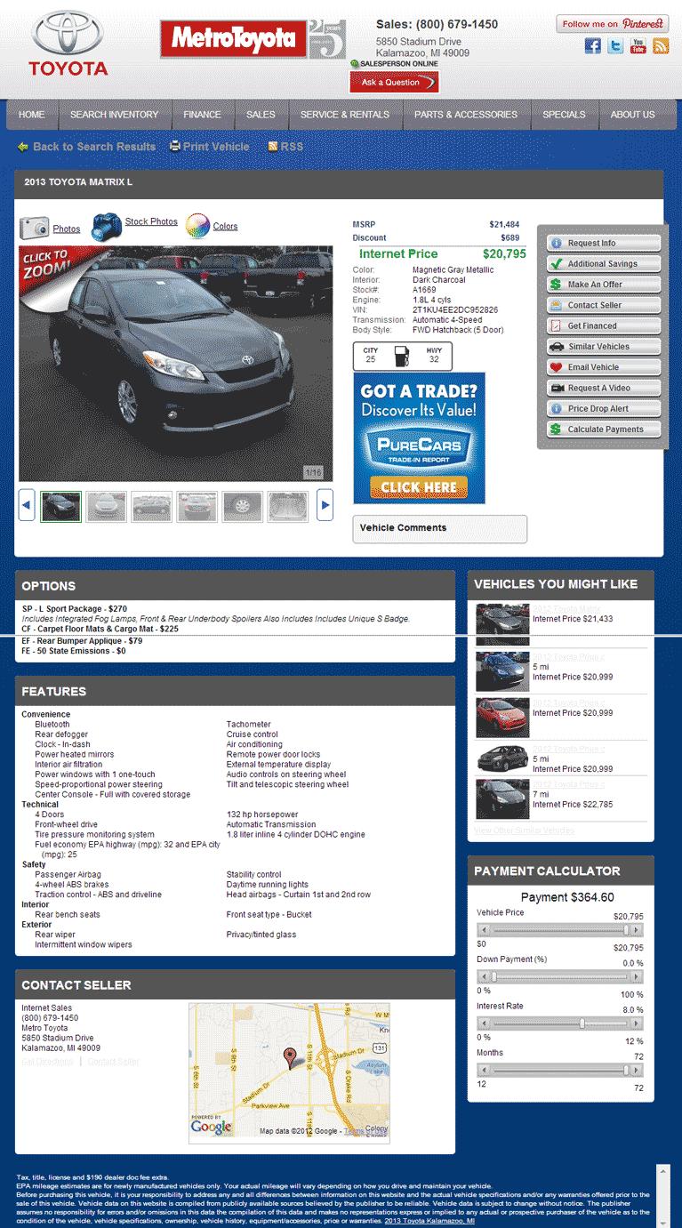 Metro Toyota Kalamazoo, MI View Dealer Ad