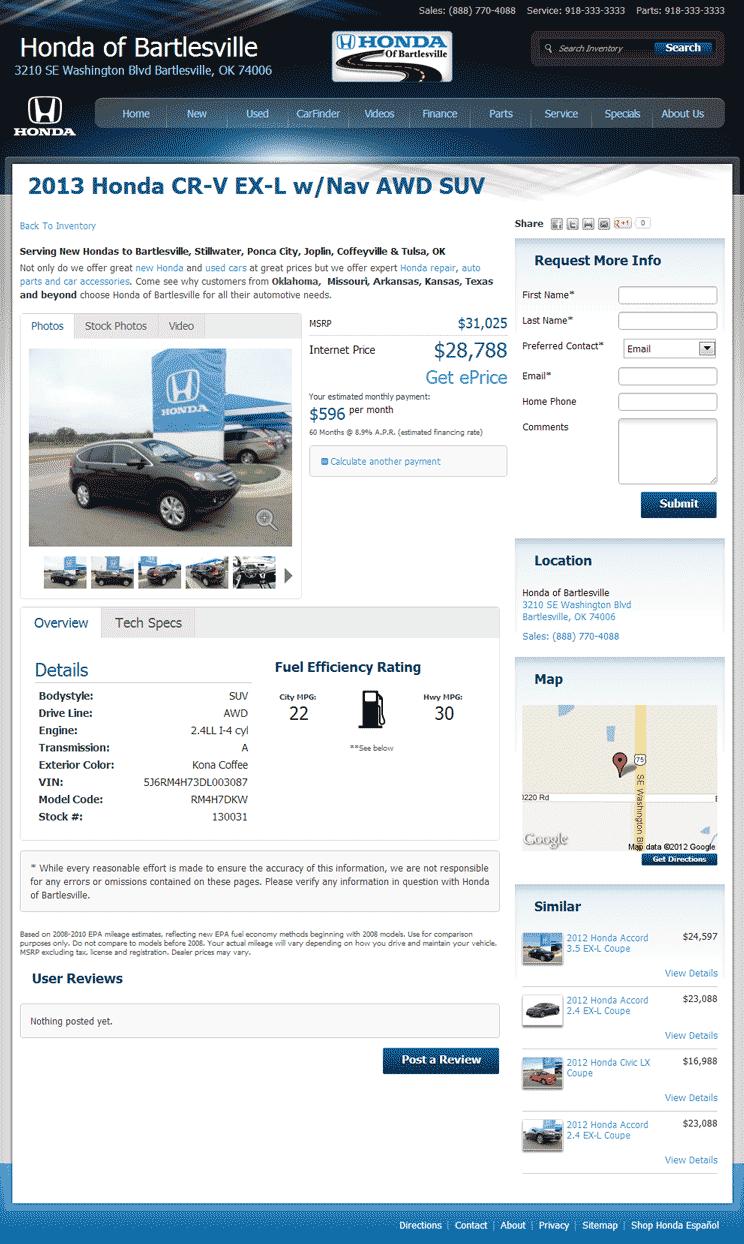 2013 Honda CR-V Real Dealer Prices - Free - CostHelper.com