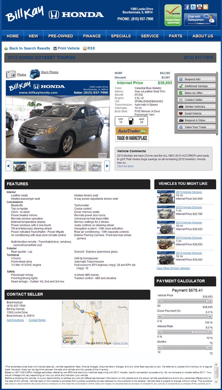 2013 Honda Odyssey Real Dealer Prices Free Costhelper Com