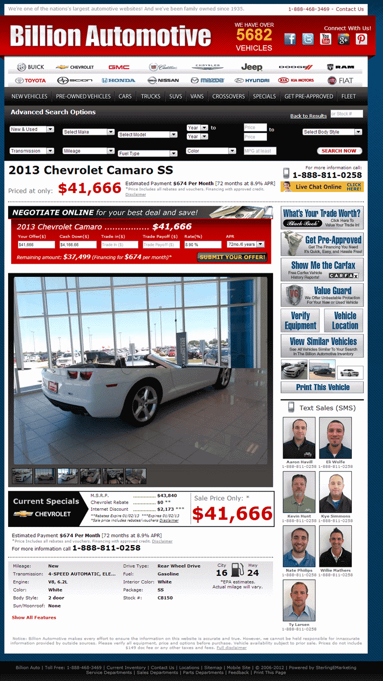Billion Chevrolet Sioux Falls, SD View Dealer Ad