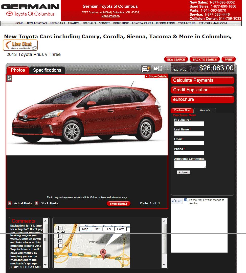 2013 Toyota Prius V Real Dealer Prices Free Costhelper Com
