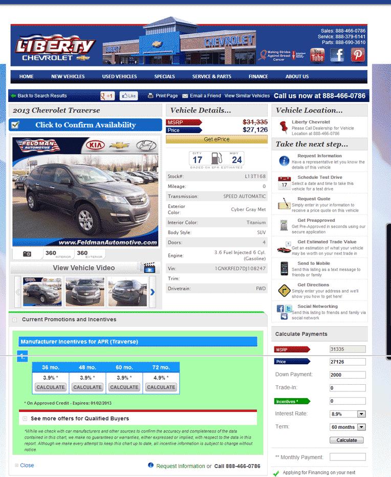 Liberty Chevrolet New Hudson, MI View Dealer Ad