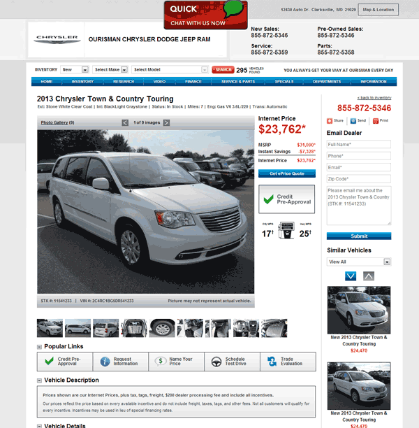 2013 Chrysler Town And Country Real Dealer Prices Free