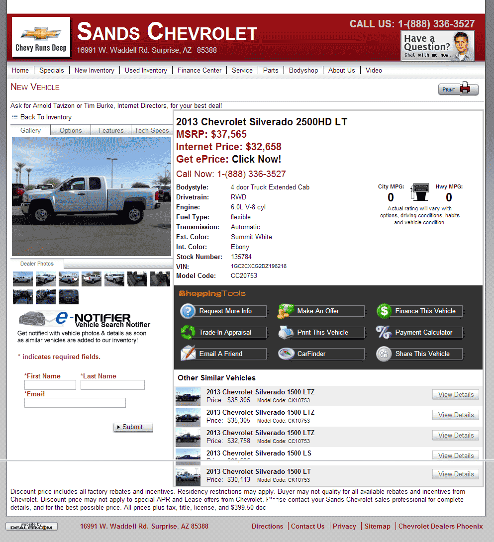 chevy surprise in located chevrolet arizona phoenix area glendale dealer sands and