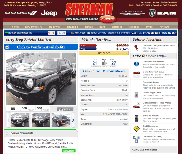 2013 Jeep Patriot Real Dealer Prices