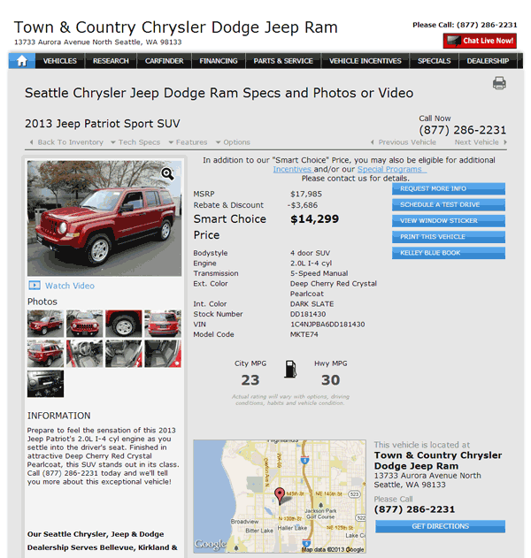 Town And Country Jeep Seattle, WA View Dealer Ad