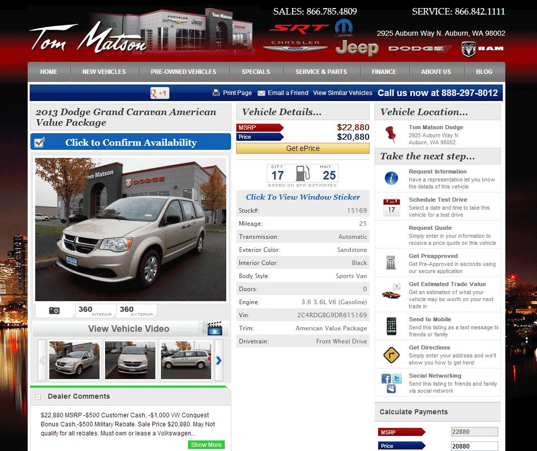 2013 Dodge Grand Caravan Real Dealer Prices Free