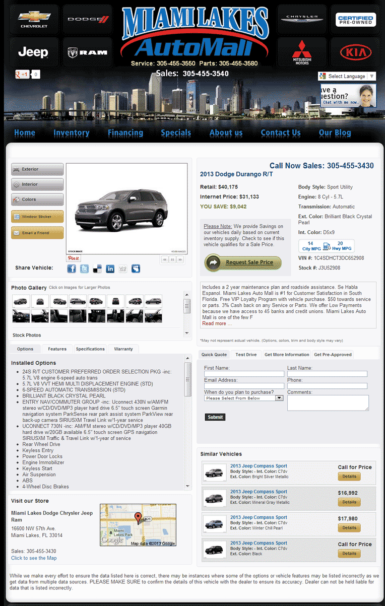 2013 Dodge Durango Real Dealer Prices - Free - CostHelper.com