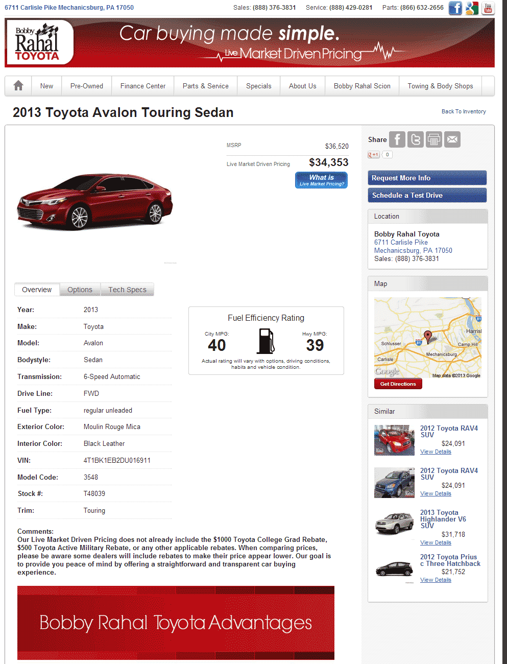 2013 Toyota Avalon Real Dealer Prices - Free - CostHelper.com
