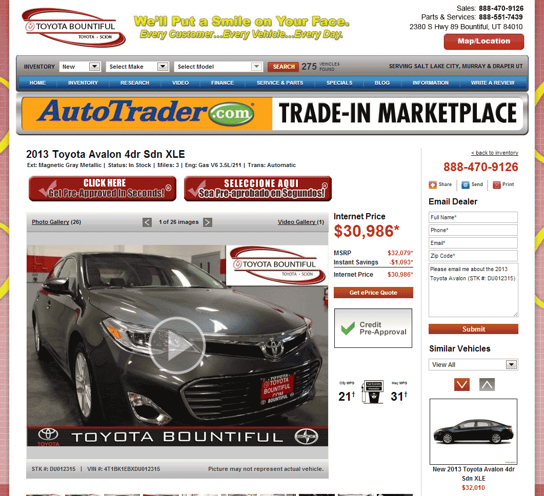 2013 Toyota Avalon Real Dealer Prices Free Costhelper Com