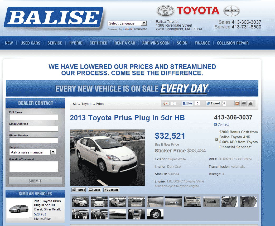 Balise Toyota West Springfield, MA View Dealer Ad