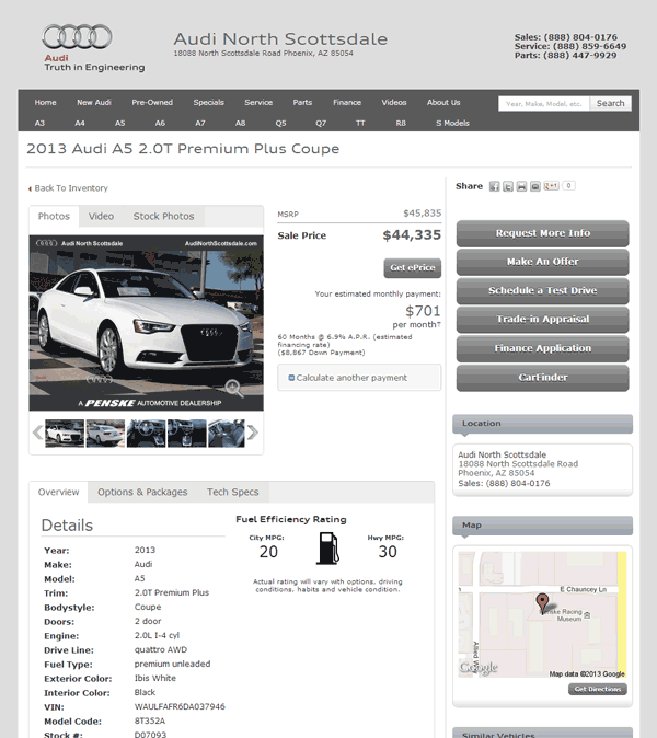 2013 Audi A5 Real Dealer Prices