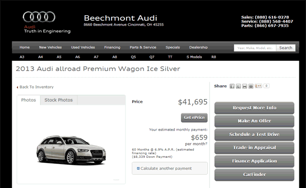Audi Allroad Real Dealer Prices Free CostHelpercom - Beechmont audi