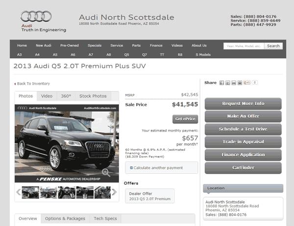 Audi Q Real Dealer Prices Free CostHelpercom - Audi north scottsdale service