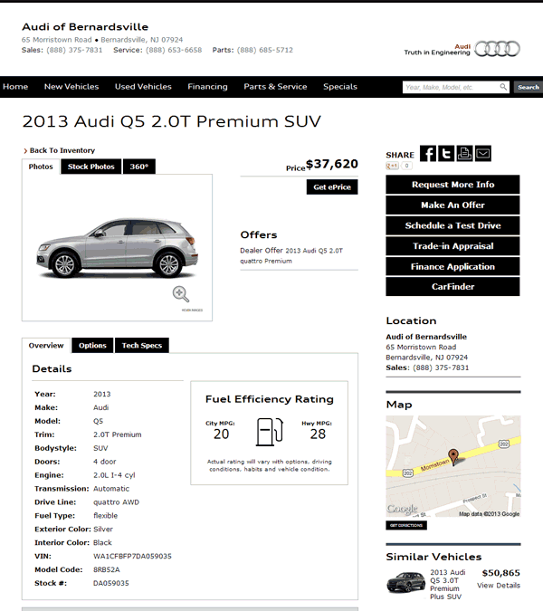 2013 Audi Q5 Real Dealer Prices
