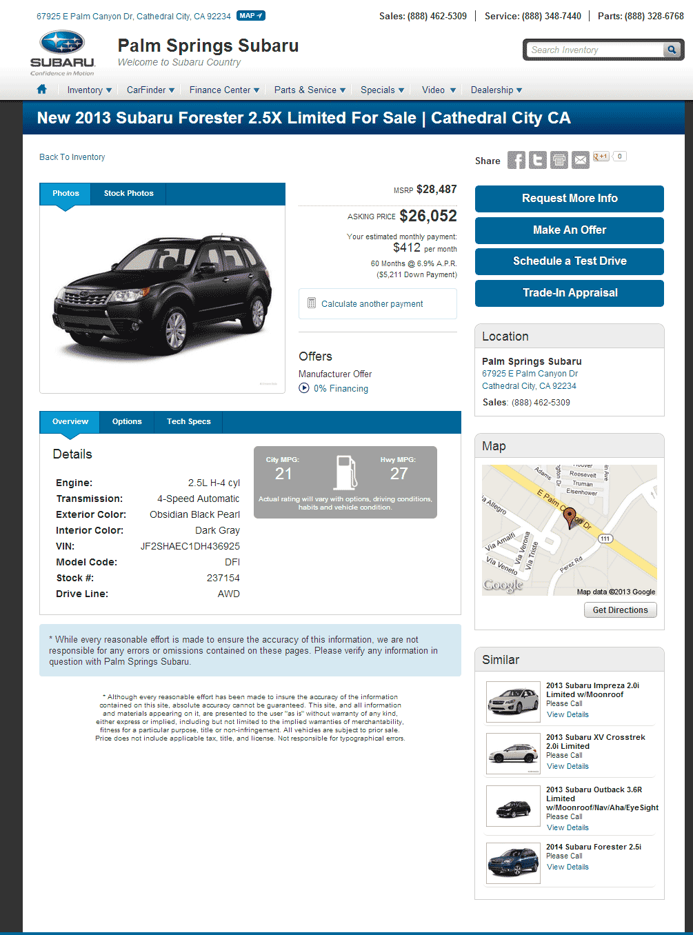 2013 Subaru Forester Real Dealer Prices Free