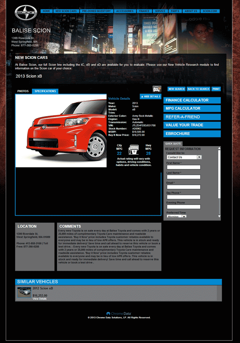 the car connection 2013 scion xb review ratings specs prices html autos weblog. Black Bedroom Furniture Sets. Home Design Ideas