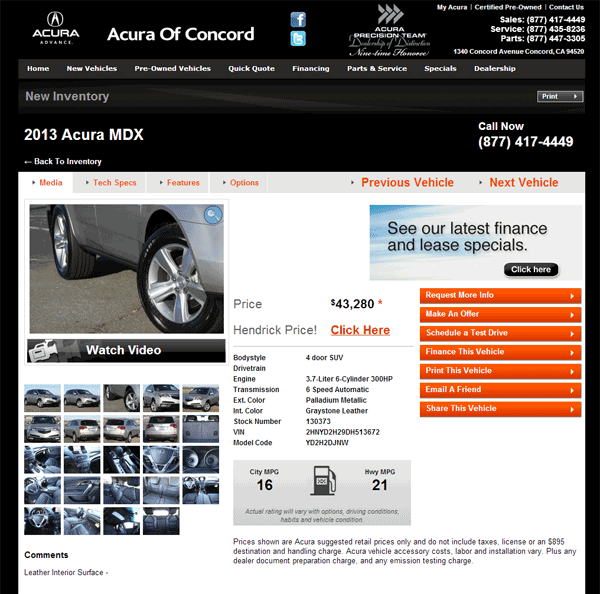Acura Mdx Entertainment Package: 2013 Acura MDX Real Dealer Prices