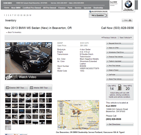 Fort Myers Florida Acura Dealership: 2013 BMW M5 Real Dealer Prices