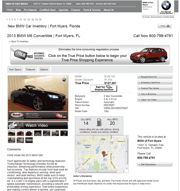 2013 BMW M6 Real Dealer Prices