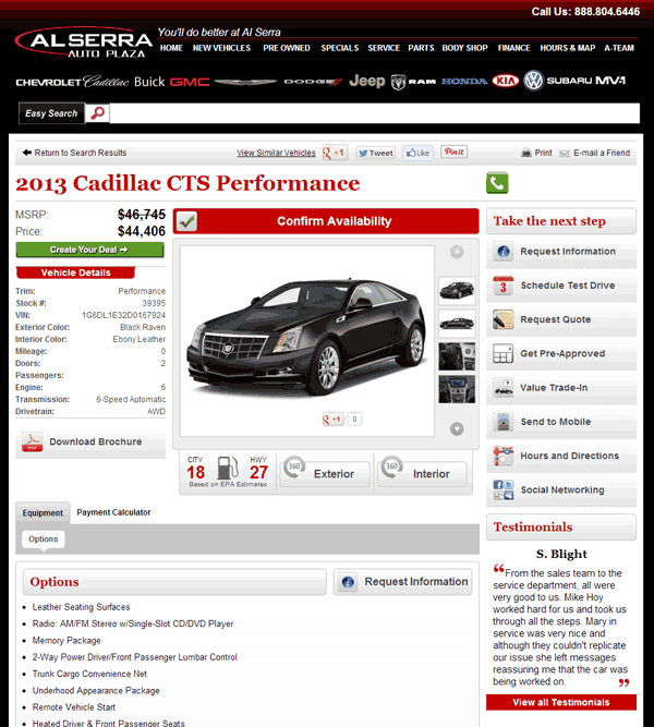 2013 Cadillac CTS Real Dealer Prices