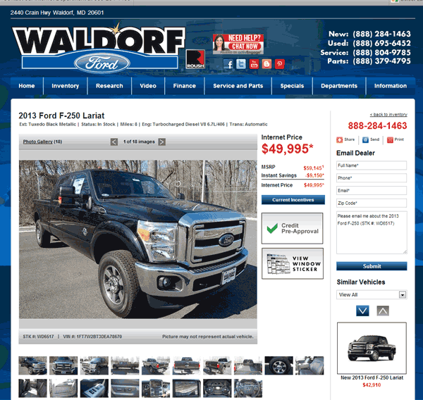 2013 Ford F-250 Real Dealer Prices