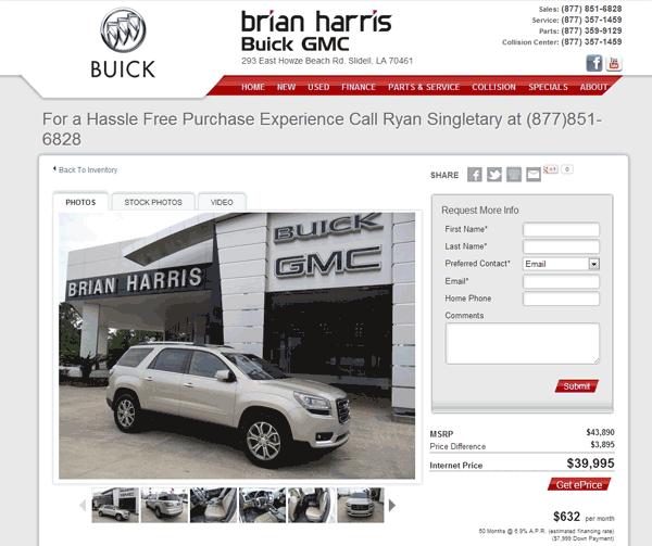 Buick Dealership Austin: 2013 GMC Acadia Real Dealer Prices